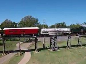Drone shows Q150 steam train