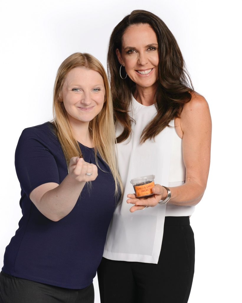 Shark Tank investor Janine Allis with Edible Bugs creator Skye Blackburn.