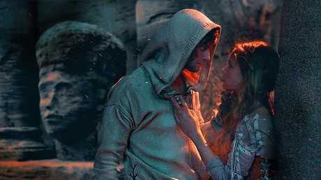 Ben Barnes and Alicia Vikander in Seventh Son.