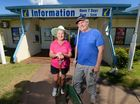 Bev Gully and Neil Lethlean were part of a crew of dedicated volunteers who got in and cleaned up the Yeppoon Information Centre doing their part to get the region back on its feet after Cyclone Marcia. Photo: Chris Ison / The Morning Bulletin