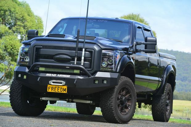 Harrison F-Trucks has given its muscly Ford F-Series some hardcore treatment on F250 and F350 variants with the Superduty Black Ops special editions.