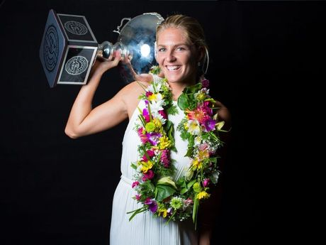Stephanie Gilmore was awarded WSL Women's Champion, Wave of the Year and Heat of the Year at the World Surf League Awards in Coolangatta.