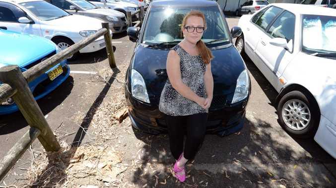 Bettina Ryan damaged her car when she hit a pothole on Coraki Rd, South Gundurimba, at base of MacMahons Rd.