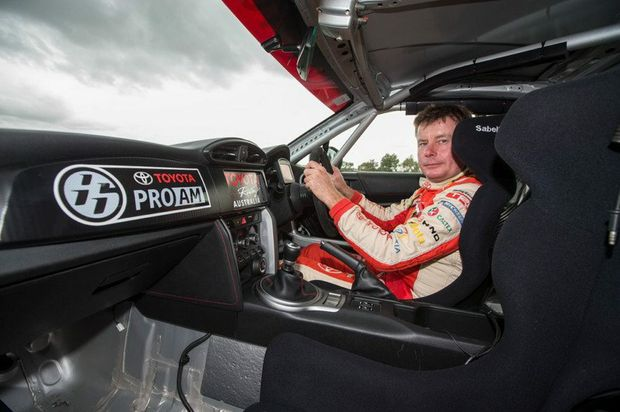 The Toyota 86 Pro-Am development car and Neal Bates.