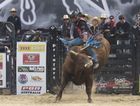Three time Australian Champion David Kennedy, pictured on bucking bull Infusion, is one of the big names heading to Hervey Bay.