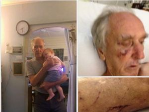 Grandad recovering after being bashed by a woman and two men