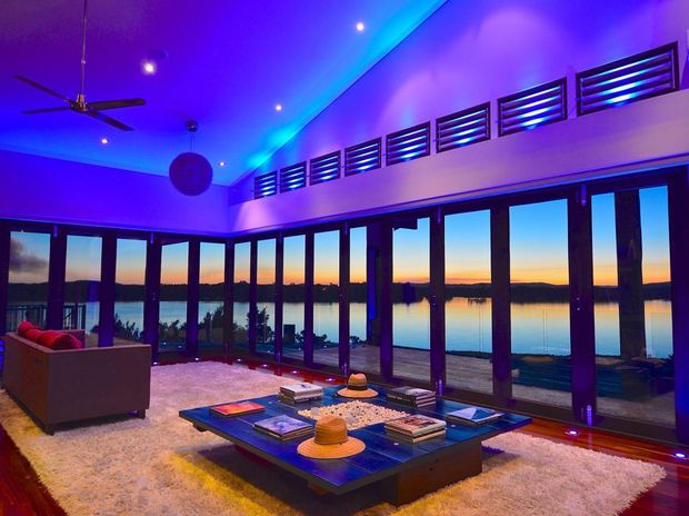 DREAM ON: What you can get for a cool $1.775million - Riverscape, on the banks of the Clarence River in northern NSW, a short boat ride from coastal Yamba. The two-storey home, on 2.6ha, maximises the 180-degree views over the Clarence and surrounding ranges. Photo: Contributed