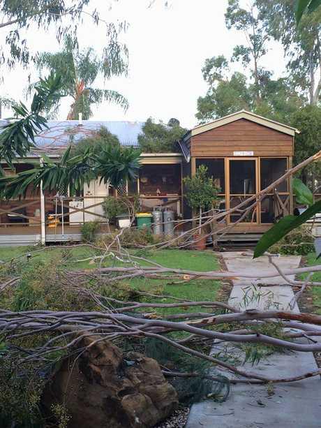 Storm damage on the outskirts of Goondiwindi.