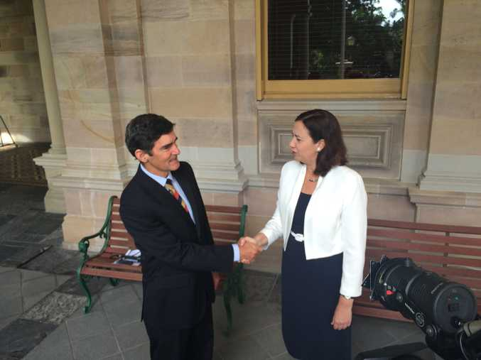 Nicklin Independent Peter Wellington nominated as speaker, with Premier Annastacia Palaszczuk