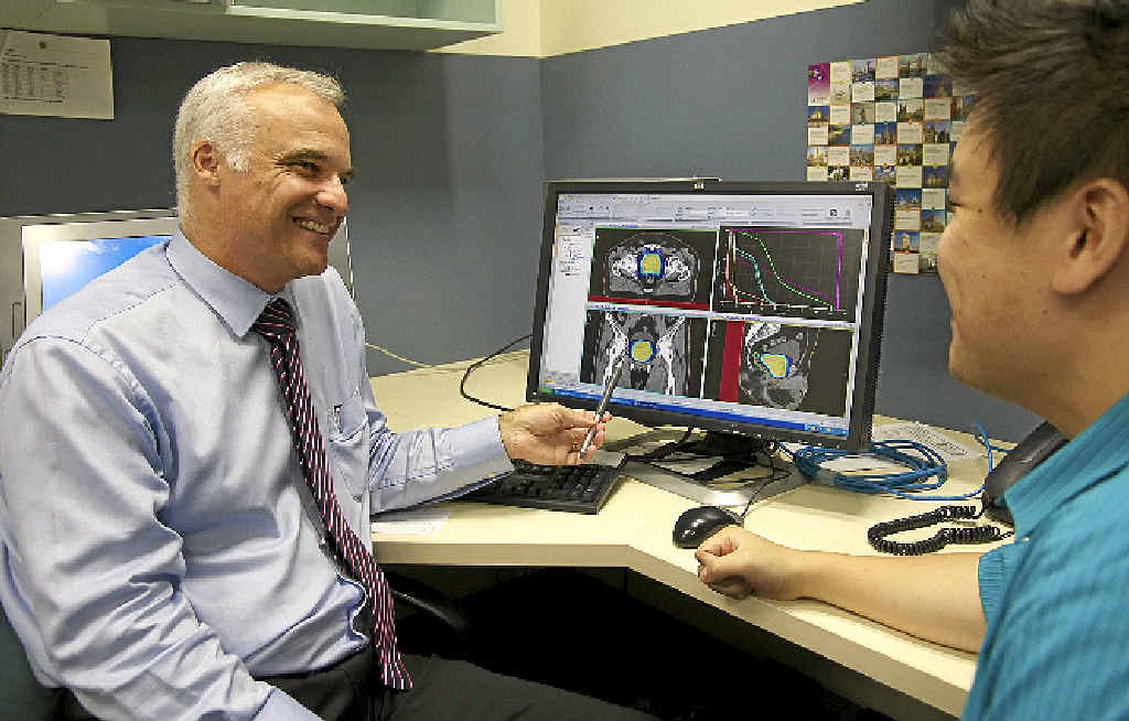 MAKING HIS POINT: North Coast Cancer Institute radiation oncologist Professor Tom Shakespeare has led new research into prostate cancer treatment.