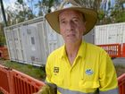 POWERING A COMMUNITY: Bob Pleash from Ergon Energy at the site in Byfield where the company has set up a Pegasus generator which will supply power to most residents in the area until normal infrastructure has been restored.