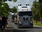 Trucks and utes in the 2015 Lights on the Hill memorial convoy which converged on the Gatton Racecourse. Twin convoys left BP at Archerfield and Brown and Hurley in Toowoomba with 785 trucks in total making this year's convoy a record! Photo Carly Morrissey / Big Rigs