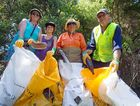 Clean Up Australia Day volunteers Di Weekes, Diavi Young, Jacci Benjamin and Denis Hams collected a massive amount of garbage from around the Park Beach area. 01 MARCH 2015 Photo Gemima Harvey/Coffs Coast Advocate