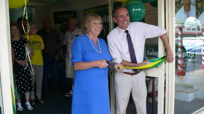 The Nationals Federal president Christine Ferguson and NSW Member for Clarence Chris Gulaptis officially open his campaign office in Grafton.