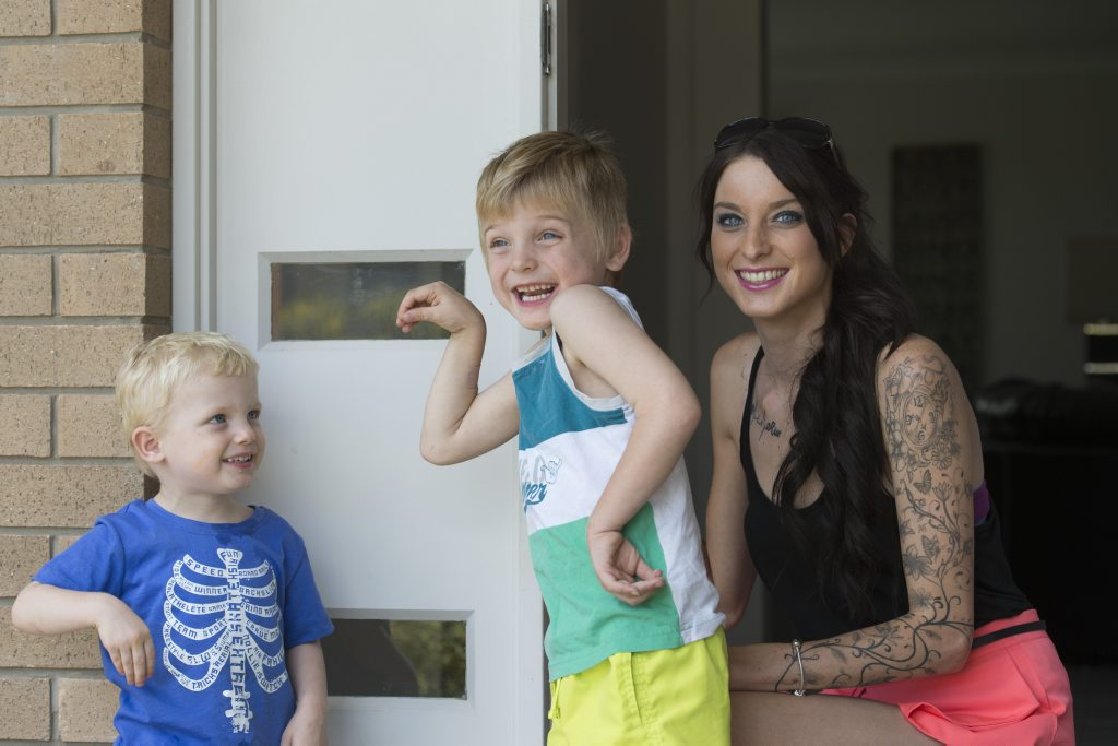 Rebecca Clegg values every minute spent with her children Jaxon (left) and Riley Clegg.