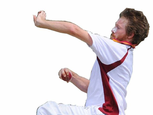 FINAL BANG: Nathan Blanch made his return from a finger injury to take 3 for 43 for Clarence River in the North Coast Inter-District grand final against Coffs Harbour on Sunday.