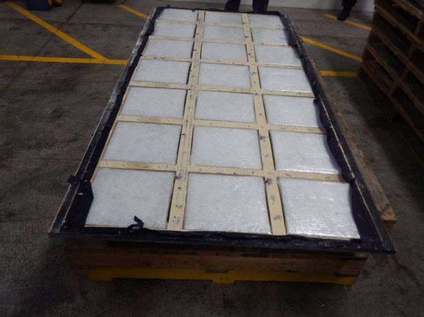 This is what 100kg of methamphetamine looks like, concealed in the false floor of a shipping container that arrived from China