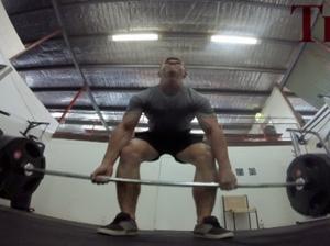 Louis Payne, 15, deadlifts 175kg