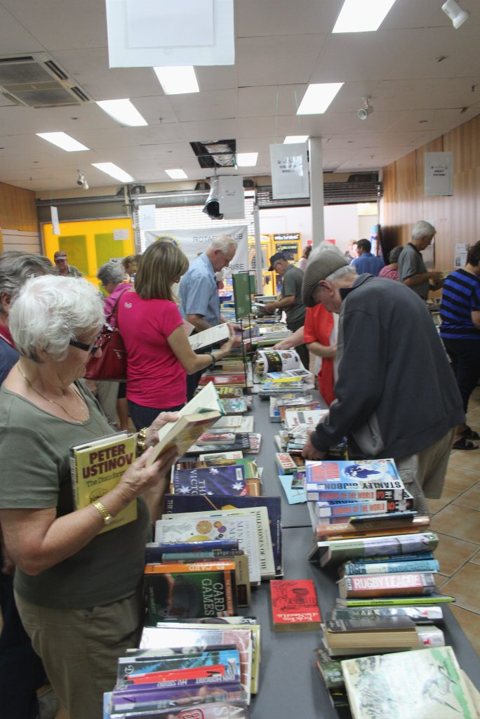 There was a hive of activity at the book sale in the Maryborough Plaza.