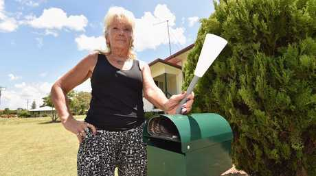 Irene Carrall has had trouble with her solar lights and letterbox being removed from her home in Freshwater St in Scarness.