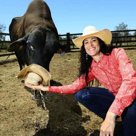 Jody Ruhland has a special bond with Houston the bull. Photo: Contributed.