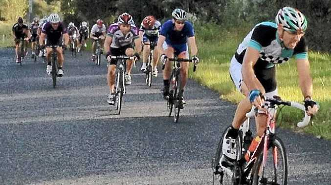 JUDGED TO PERFECTION: Race winner Dion Wilks leads the group up Fish Farm Hill at Trenayr. PHOTO: BRAD COOPER
