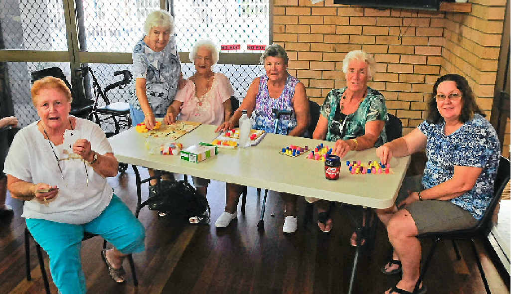Enjoying a game of hoy at the Gladstone Senior Citizens Centre are (from left) Faye Peterson, Janet Domoney, Doreen McKeon, Betty Rodgers, Joann Green and Faye Ferry.
