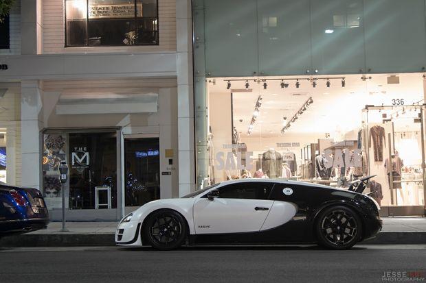 The 2012 model Bugatti Veyron Super Sports.