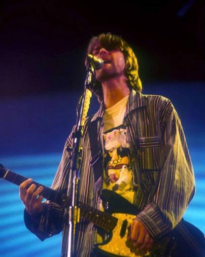 Kurt Cobain, the late lead singer of 1990s grunge band Nirvana