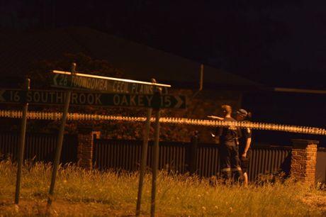 Parts of Biddeston in lock down as police investigate triple fatal shooting.