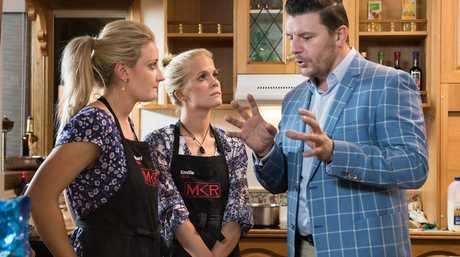 Sheri and Emilie with judge Manu Feildel during their second