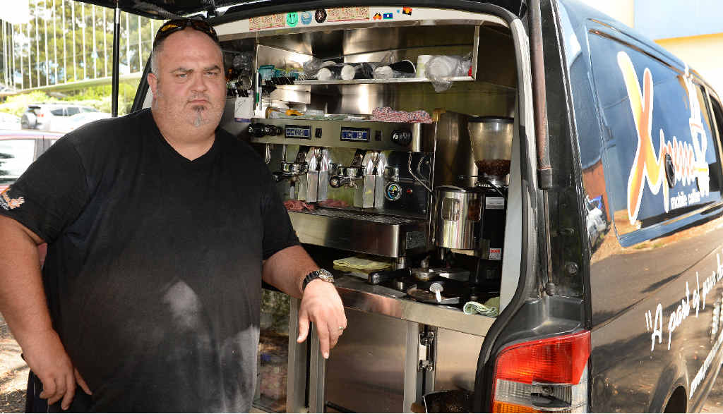 TOO MUCH: Paul Moretti, of Xpresso Mobile Coffee, is unhappy about the random price rise of petrol.
