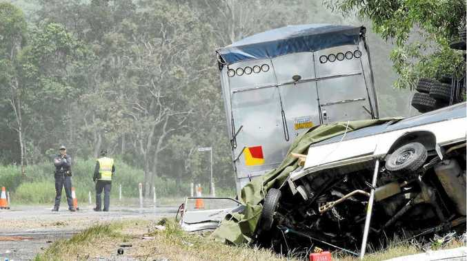 The crash on the Bruce Hwy, just north of Marian-Hampden Rd intersection, that claimed the lives of Richard Waters and a German woman.