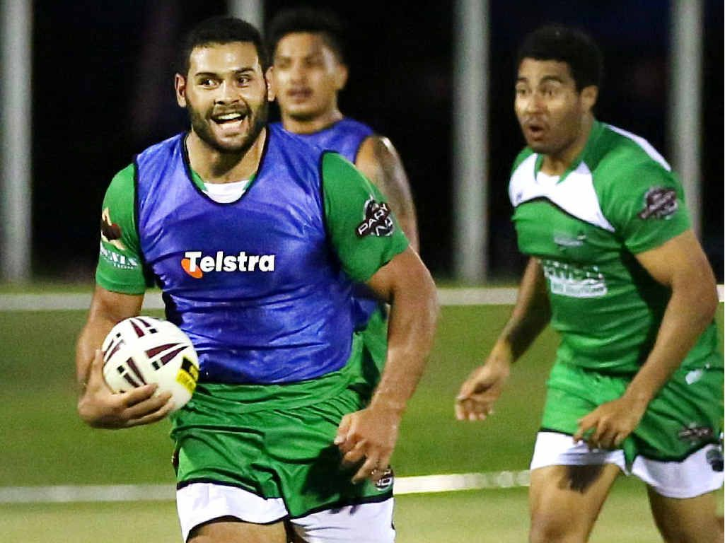 Tyson Martin will have his hands full containing brother Rhyse, who will play in the inaugural Townsville Blackhawks side.