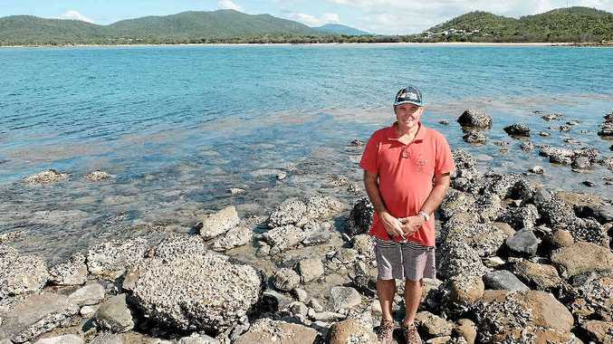 DEEP WATER: Hydeaway Bay resident Warren Hardy on the site of the proposed Blackcurrant Island all-tides boat ramp.
