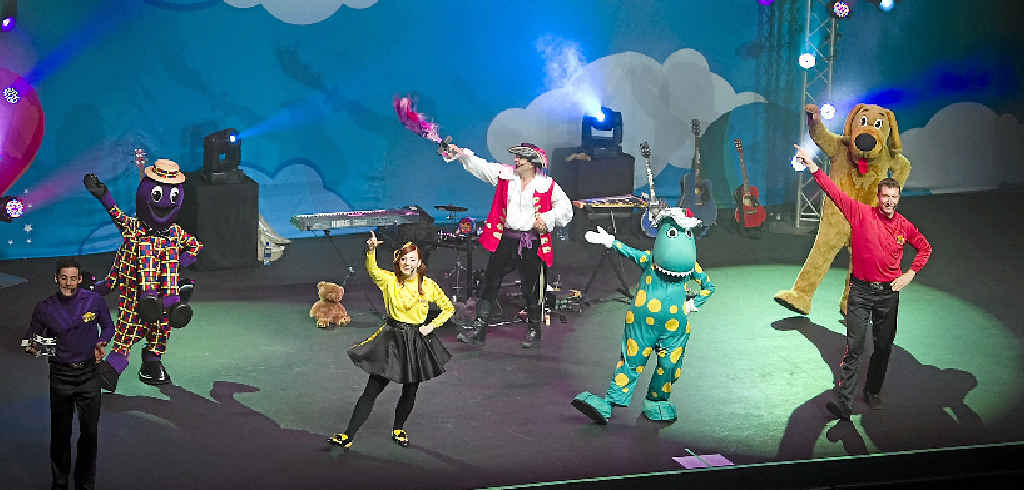 WIGGLE TIME: The Wiggles' Lachy, Henry the Octopus, Emma, Captain Feathersword, Dorothy the Dinosaur, Wags the Dog and Simon will play at the Proserpine Entertainment Centre in June. Photo Kevin Farmer / The Chronicle
