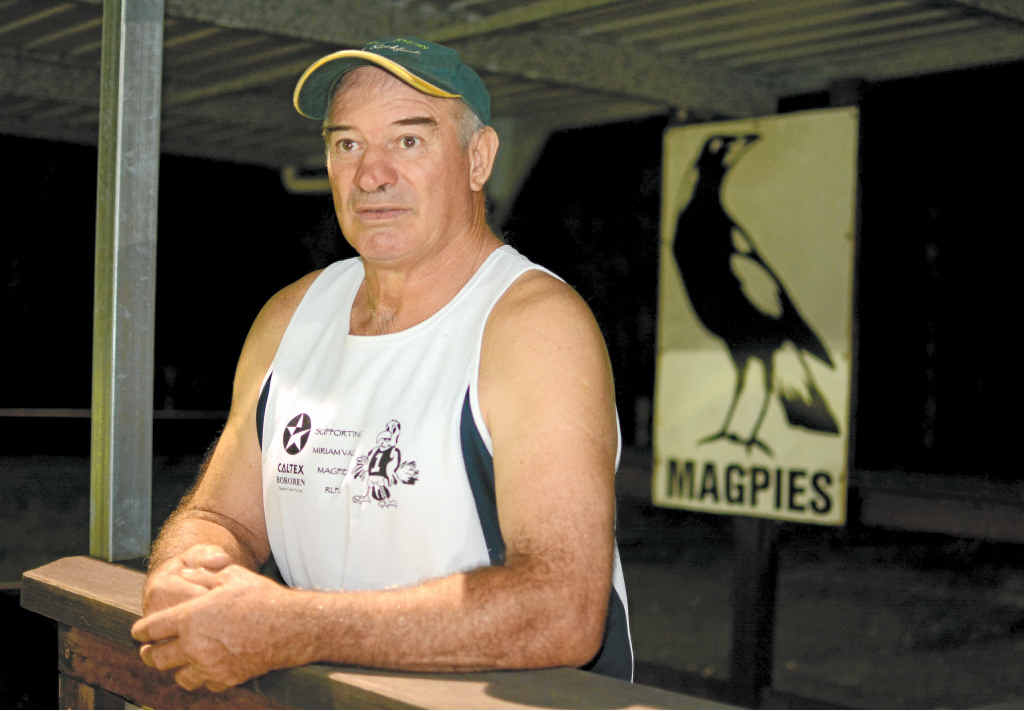 DIFFERENT ROLE: For the first time in 12 years Garry Cox is not on the coaching staff of the Miriam Vale Magpies, taking the step down to calculating the statistics.