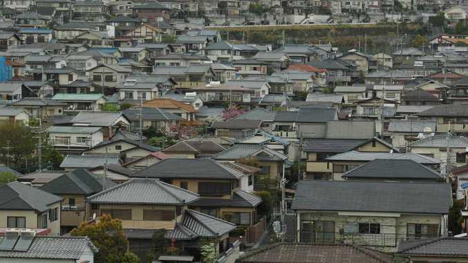 Houses in Takatsuki City, Osaka, Japan.