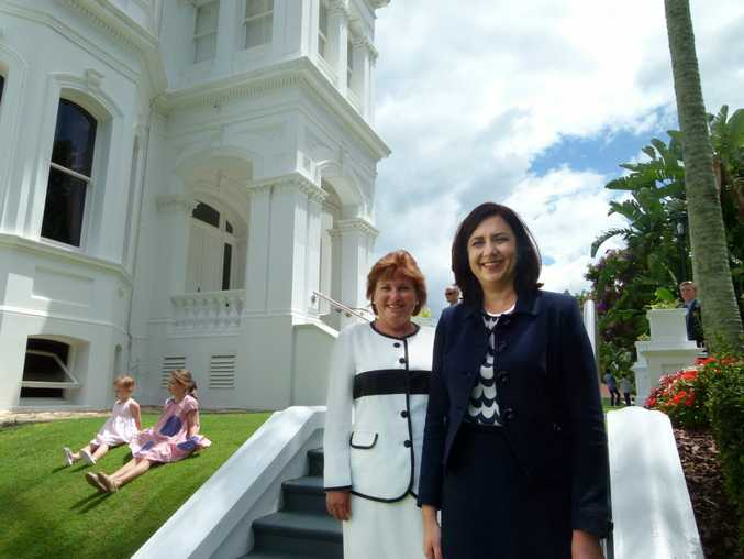 State member for Bundamba Jo Ann Miller with Queensland Premier Annastacia Palaszczuk. Photo: Contributed