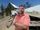 "Anthony White lost of of the ""Three Churches"" which is now a pile of twisted metal and shattered timber, to Tropical Cyclone Marcia. Photo: Chris Ison / The Morning Bulletin"