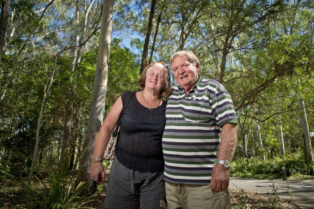 Sue Smart and Ian Lindley at Tondoon Botanic Gardens.