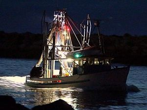 Men stranded for hours after fishing trawler sinks