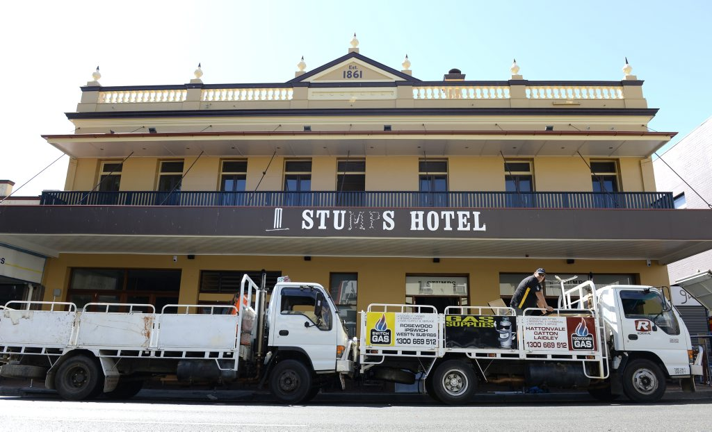 Furniture and stock was being removed from Stumps Hotel in Brisbane Street. Photo: Rob Williams / The Queensland Times