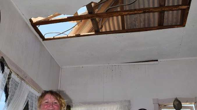 Emu Park's Rose Reni lost part of her roof after cyclone Marcia but still remains in high spirits. Photo Amy Haydock / The Morning Bulletin