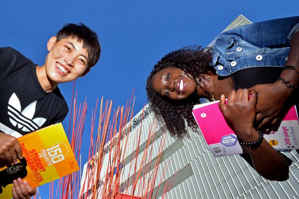 USC students Lucia Mendy and Xinzhe Gao. Photo: John McCutcheon / Sunshine Coast Daily