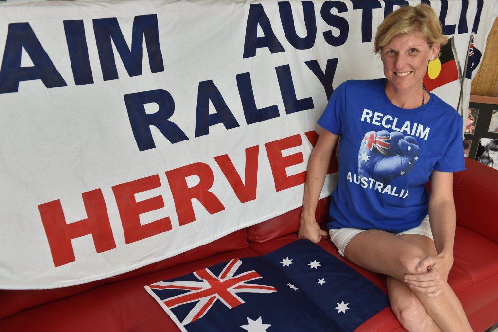 Mandy Chapman is organising a Reclaim Australia rally on April 4.