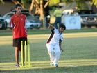 ON TARGET: Nisarg Patel, 10, bowls in the last Wednesday night under-10 cricket night at Boyne Island Oval.