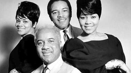 Main image: The Staple Singers – Pops and his children Cleo, Pervis and Mavis. Bottom from left: Martin Luther King Jnr, Mavis belting out a song with The Staple Singers, and Bob Dylan.