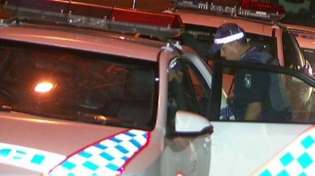 Police at the scene of a suspicious death in Highgate Hill. Photo: Nine News Brisbane/Twitter