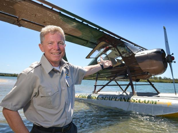 Tourism venture Paradise Seaplane wants to start joy flights from the Maroochy River. Pilot Shawn Kelly Photo: Warren Lynam / Sunshine Coast Daily